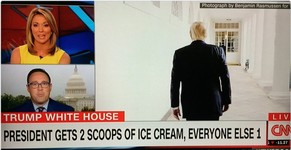 CNNmiddayShowOnTrumpIceCream051117