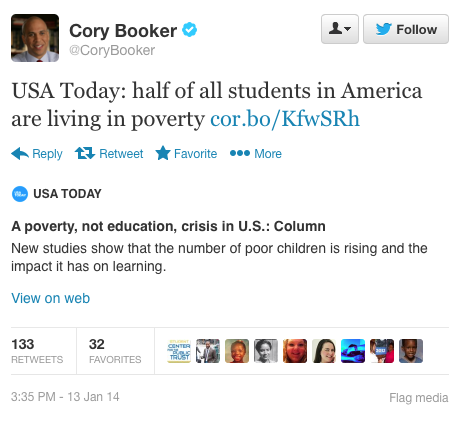 CoryBookerPovertyTweet011314