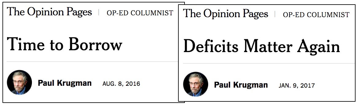 KrugmanHypocrisyOnDeficits0816and0117