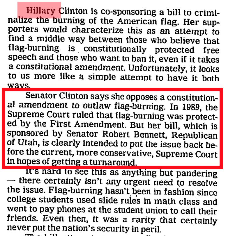 an analysis of whether flag burning is protected by the first amendment