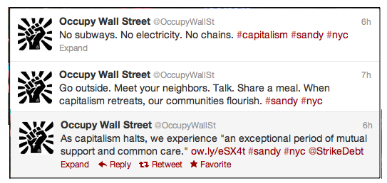 OccupyPostHurricanTweets103012