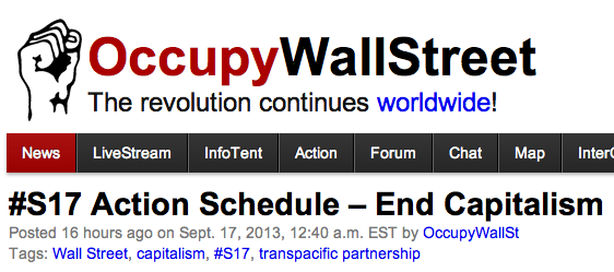 OccupyWallStreetHomePage091713