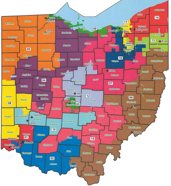 OhioCongressionalDists2011to2020