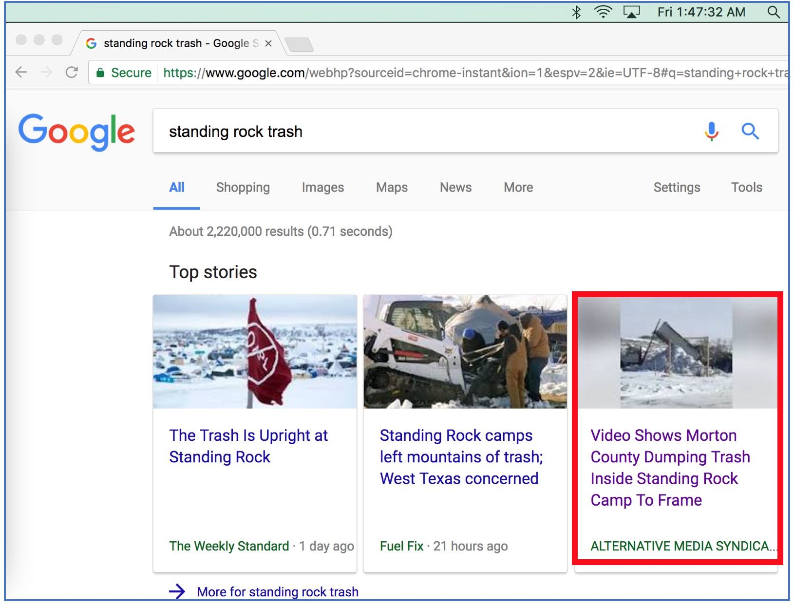 StandingRockTrashGoogleSearch021017